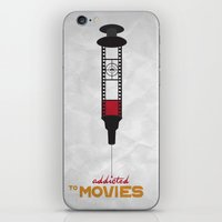 movies iPhone & iPod Skins featuring Addicted: Movies by Geminianum