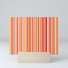 Old Skool Stripes - Red Pumpkin - Extra Wide Mini Art Print