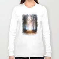 agnes Long Sleeve T-shirts featuring Enchanted Forest by Viviana Gonzalez