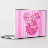 minnie mouse Laptop & iPad Skins featuring Minnie Mouse Princess Pink Swirls by Whimsy and Nonsense