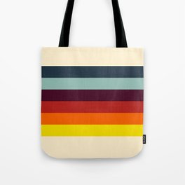Retro Colored Stripes - Colorful Abstract Art Tote Bag