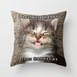 Happy Kitten Throw Pillow
