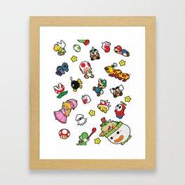 It's a really SUPER Mario pattern! Framed Art Print