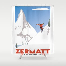 Zermatt, Valais, Switzerland Shower Curtain