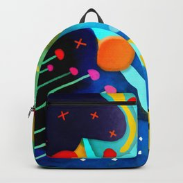 Abstract Art - Lagoon mushrooms rupydetequila amazonia dots cheetah Backpack