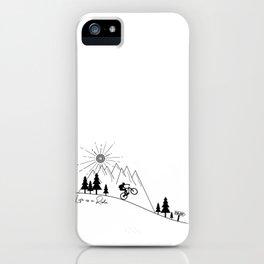 cycling mountain bike mountainbike cyclist bicycle MTB gift iPhone Case