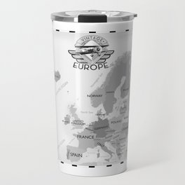 Vintage Black and white Europe poster Travel Mug