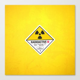Radioactive sign Back to the future Canvas Print