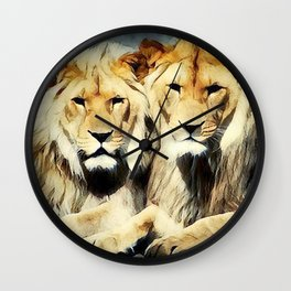 lion's harmoni Wall Clock