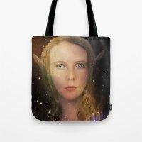 tina fey Tote Bags featuring Fey Profile by Naomi Shingler