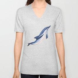 Striped baby dolphin Unisex V-Neck