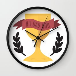 #1 Dad Bod Wall Clock