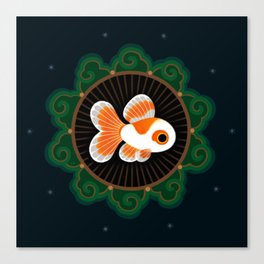 Butterfly goldfish - white Canvas Print