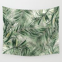 palms Wall Tapestries featuring palms by .eg.