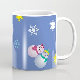 Snowflakes & Pair Snowman_C Coffee Mug