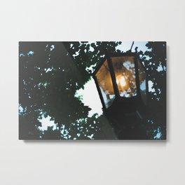 gas lamp, summer walks. Metal Print