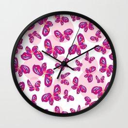 Little Butterflies Wall Clock