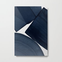 Minimalist Painting Blue II, Modern Abstract Metal Print