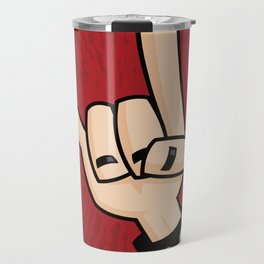Heavy Metal Devil Horns Hand Sign Travel Mug