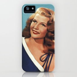 Rita Hayworth, Actress iPhone Case