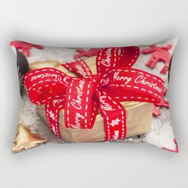 Christmas gift red silk bow 2018 New Year red ribbon decorations Rectangular Pillow