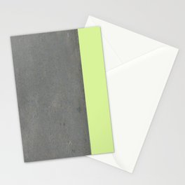 Chartreuse Concrete Stationery Cards