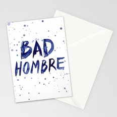 Bad Hombre Watercolor Art Stationery Cards