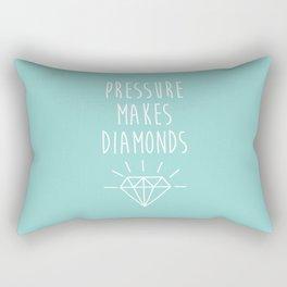 Pressure Makes Diamonds Motivational Quote Rectangular Pillow