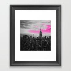PINK New York Framed Art Print