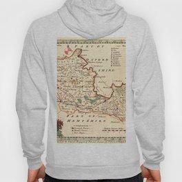 Map Of Berkshire 1758 Hoody