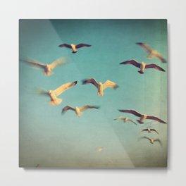 Dans Avec Les Oiseaux Metal Print