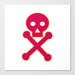 Poison Symbol Icon Canvas Print