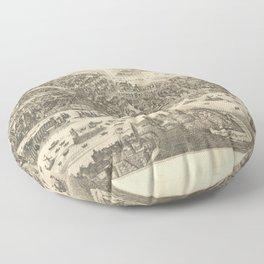 Vintage Map Print - 1654 Map of Tartary Floor Pillow
