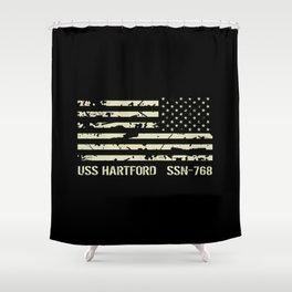 USS Hartford Shower Curtain
