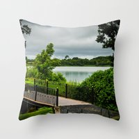 bridge Throw Pillows featuring Bridge  by Ashley Hirst Photography