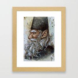 Wise Gnome Framed Art Print