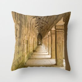 Ta Phrom, Angkor Archaeological Park, Siem Reap, Cambodia Throw Pillow