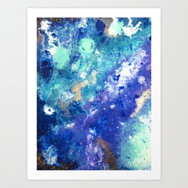 Muscida I - Abstract Costellation Painting Art Print