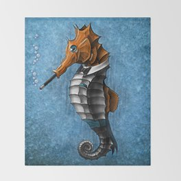 Sophisticated Seahorse Throw Blanket