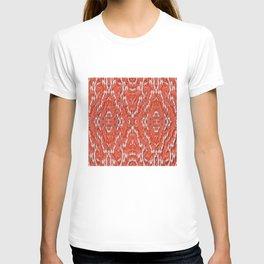 big diamond ikat in vermilion T-shirt