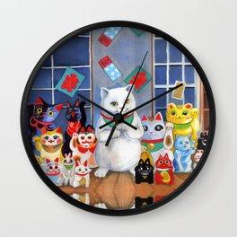 Lucky Cats Wall Clock