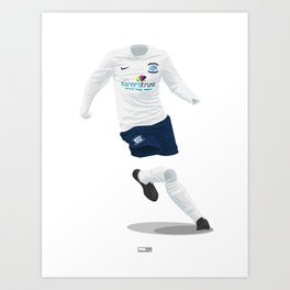 Preston North End 2013-14 Art Print