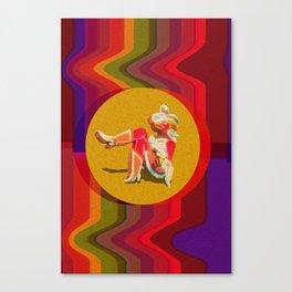 Retro Cowgirl Canvas Print