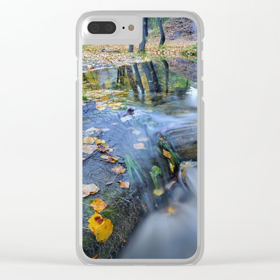 """White river"" Into the woods Clear iPhone Case"