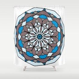 Blue Marigold Shower Curtain