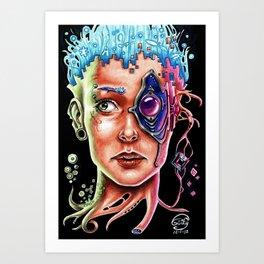 Conexión Cerebro-celular Art Print