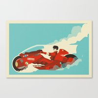 akira Canvas Prints featuring Akira by Danny Haas