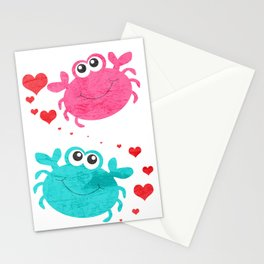 Love Crab Stationery Cards