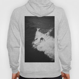 Black and White Wave Surfer Hoody