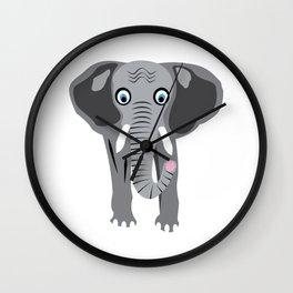 Elephant Illustration, Animal, Wildlife, ©DAM Creative, Wall Clock